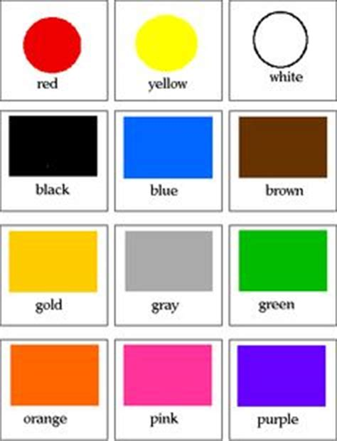 customizable  printable color flash cards color