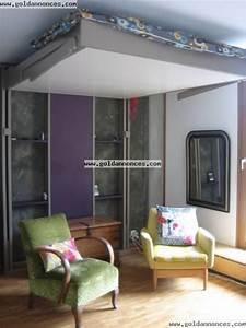 Lit Escamotable Plafond : lit au plafond ceilingbed lits escamotables pinterest ~ Premium-room.com Idées de Décoration