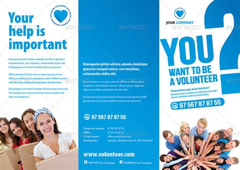 Volunteer Brochure Template 20 Tri Fold Information Brochure Templates
