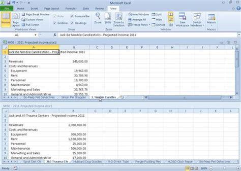 comparing  excel  worksheets side  side