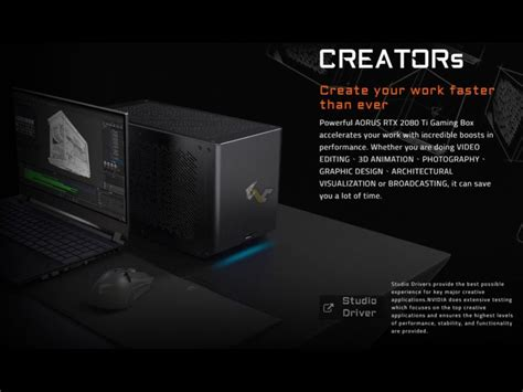 gigabyte launches aorus gaming box  rtx  ti
