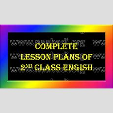 Complete Lesson Plans  2nd Class English  Wwwnaabadiorg  3rs  Notifications Cets