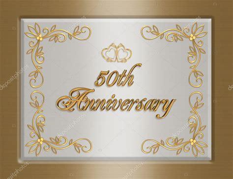 golden wedding anniversary invitati stock photo
