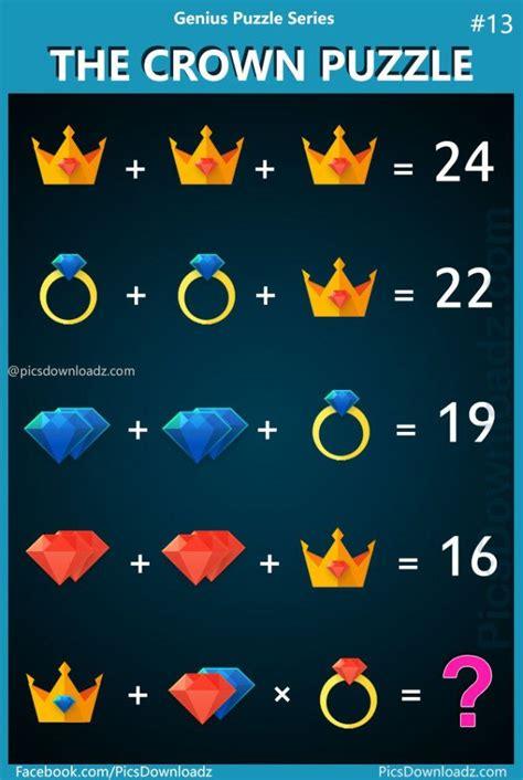 crown puzzle genius puzzle series  viral logic