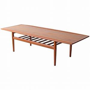Grete jalk danish modern two tier teak coffee table at 1stdibs for Danish modern coffee table