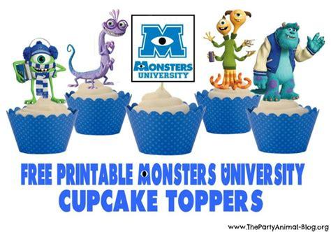 monsters university printable cupcake toppers printables