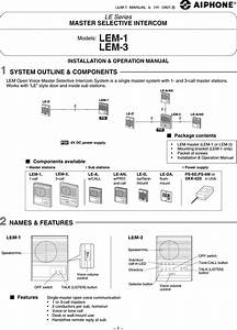 Aiphone Audio Intercom Wiring Diagram