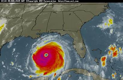Hurricane Katrina Satellite Loop Infrared Radar 175mph