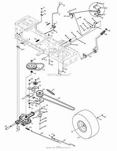 Mtd 13am762f052  2008  Parts Diagram For Drive System