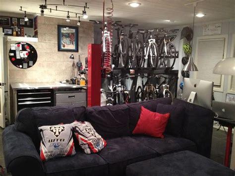 mountain bike themed man cave bike room bike storage home