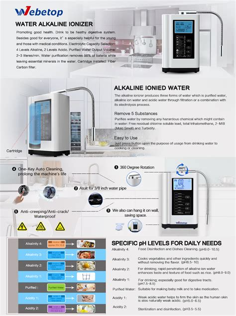 Amazoncom Webetop Water Ionizer And Water Purifier Machine Ph 35105 Alkaline Acid Water
