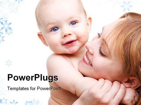 portrait  angelic baby   mother powerpoint