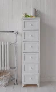 maine narrow freestanding bathroom cabinet with 6 drawers for storage bathroom vanity