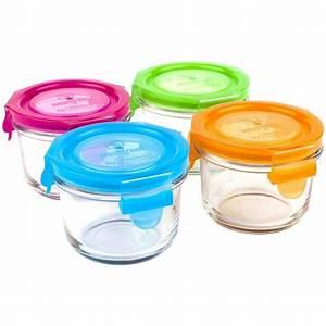 Pot Verre Couvercle : set de petits pots ronds en verre tremp avec couvercle 4 x 165 ml sebio ~ Teatrodelosmanantiales.com Idées de Décoration