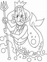 Merman Coloring Pages Centaur Mermaid Template Ugly Printable Clipart Half Horse Cartoon Creatures Print Popular Mythical Clip Greek Getcolorings Getcoloringpages sketch template