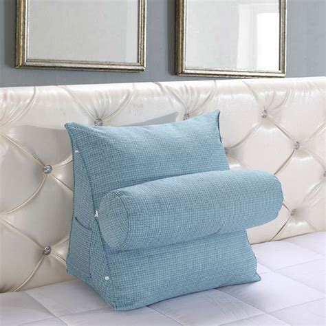 back pillow for bed adjustable sofa bed chair rest neck support back wedge 4242
