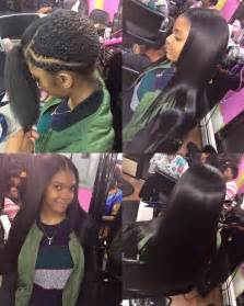 Middle Part Sew in with Straight Hair