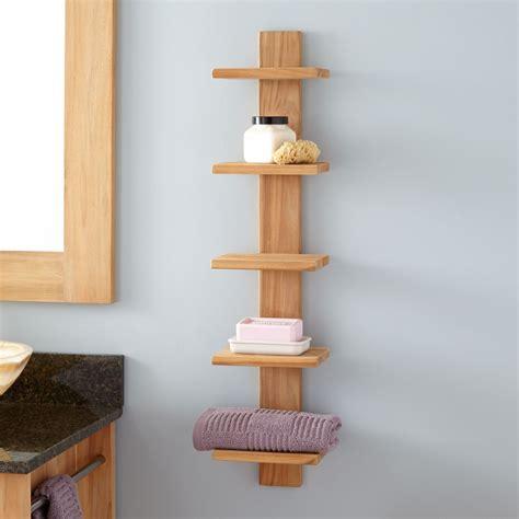 bastian hanging bathroom teak shelf  shelves