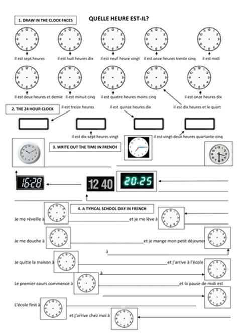 telling the time in french l heure en fran 231 ais by
