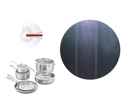 china tri ply fully clad circle  cookware manufacturers suppliers factory direct wholesale