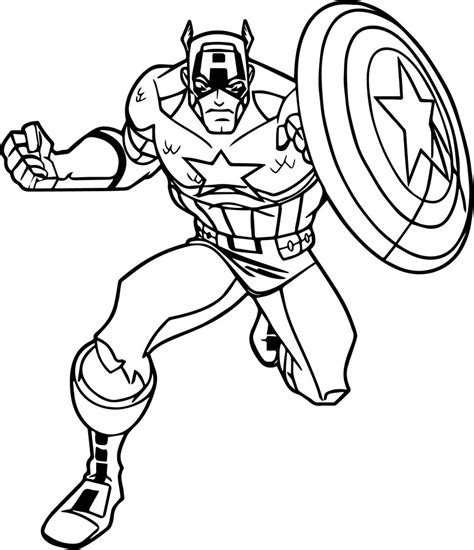 avengers captain america coloring page wecoloringpage com