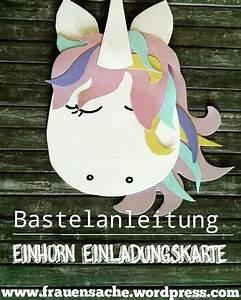 Einhorn Selber Basteln : diy einhorn einladungskarte aus fotokarton ~ A.2002-acura-tl-radio.info Haus und Dekorationen