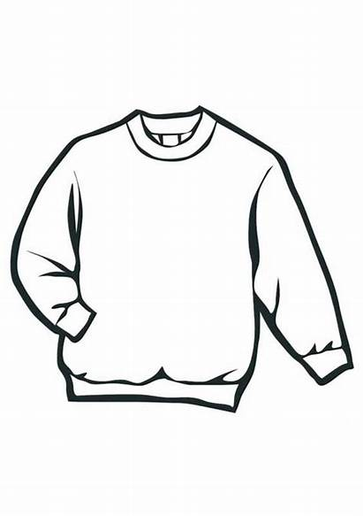 Sweater Coloring Pages Winter Clothes Colouring Clothing
