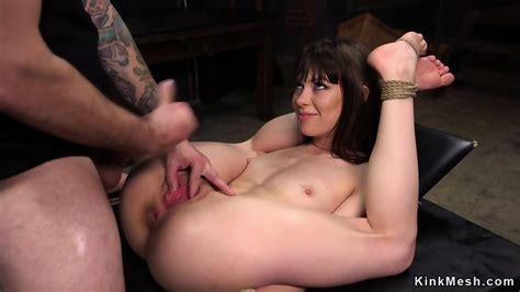 Tied Up Brunette Anal Fucked And Cummed Eporner