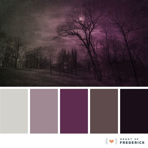 paint color grey purple color palette spooky inspired hues from
