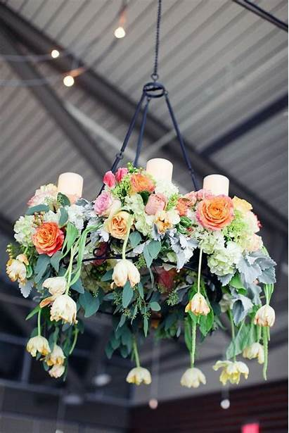 Chandelier Floral Flower Flowers Weddings Chandeliers Greenery