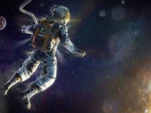 Download Wallpaper 1600x1200 Astronaut floating in space ...