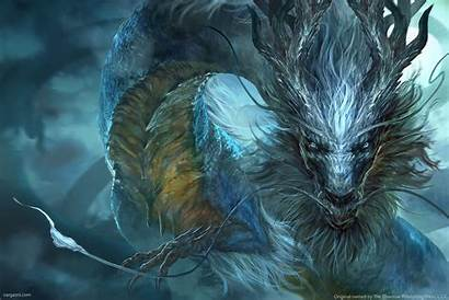 Dragon Chinese Storm Artwork Artstation Vargas