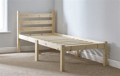 Small Single Bed by Somerset 2ft 6 Small Single Solid Pine Bed Frame