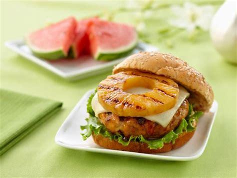 teriyaki pineapple turkey burgers recipe food network
