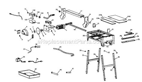 husky tile saw thd950l motor craftsman 11822000 parts list and diagram