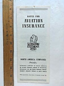 Aircraft owners are seeing insurance rate hikes of between 15 percent and 25 percent, and some way more than that, according to aopa. 1945 Rates for Aviation Insurance Fold-out Brochure. North ...