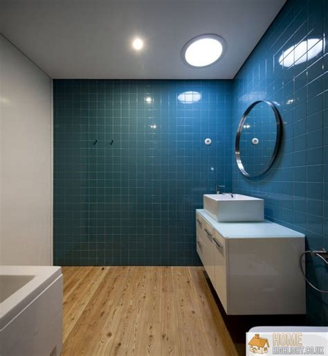 designer bathroom tiles modern blue bathroom designs ideas home highlight