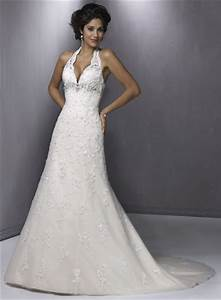 The halter neck style for your wedding gown for Halter style wedding dresses