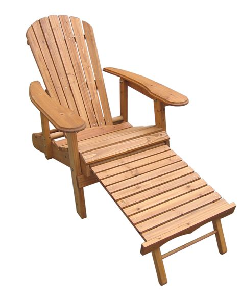 adirondack chair and ottoman foldable and reclining fir wood adirondack chair with pull