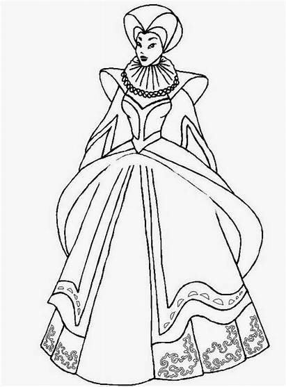 Queen Coloring Pages Diamond Elizabeth Country