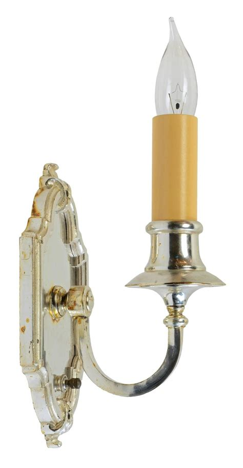 silver candle wall sconces silver plated single candle wall sconce circa 1915 at 1stdibs