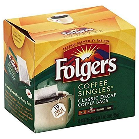 Medium roast for use in all keurig folgers classic roast instant coffee crystals, 8 ounces. Folgers Classic Medium Roast Decaf Coffee, 19 Count Singles Serve (6 Pack) in 2019 | Decaf ...