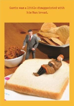 bread funny joke personalised happy birthday card