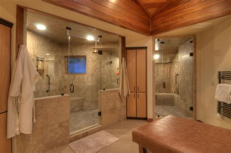 bathroom wainscoting ideas walk in shower remodel ideas modern shower features bold