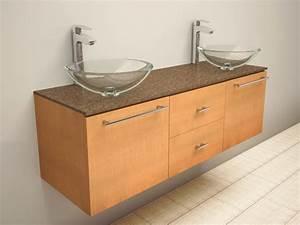 meuble double vasque de design moderne en 60 exemples With meuble salle de bain pour double vasque Á poser
