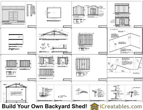 shed plans gable shed storage shed plans