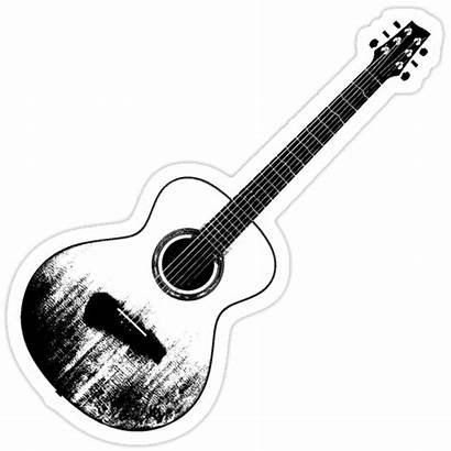 Guitar Sticker Acoustic Stickers Redbubble