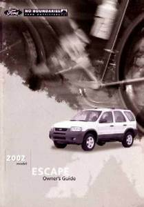 2002 Ford Escape Owners Manual User Guide Reference