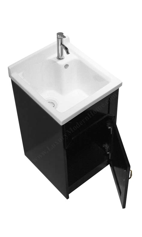 small utility sink with cabinet ls modern 18 quot inch small espresso laundry utility sink