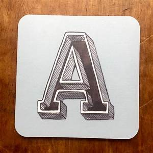 alphabet initial letter coaster by have a gander With letter coasters